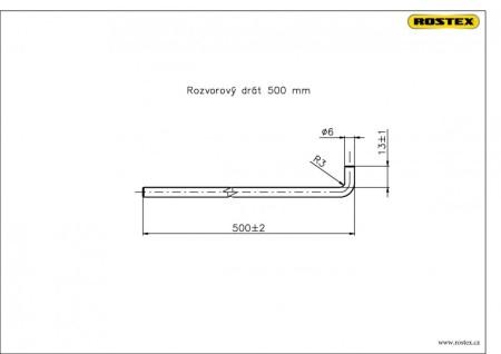 Rozvorový drát 500 mm