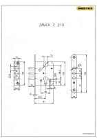 Zámek zadlabací Z210  ( Bezpečnostní kování R3 )